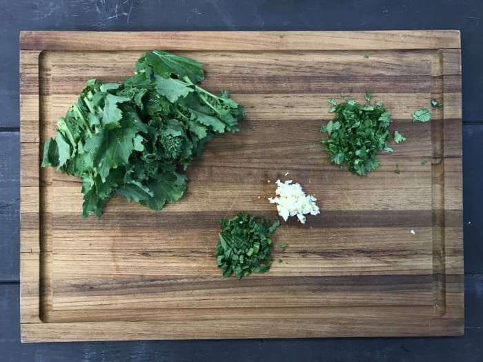 how to cook a rapini